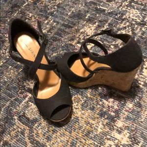Black- Call It Spring Wedges